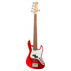 SADOWSKY MetroExpress 21-Fret Hybrid P/J Bass, Morado, 5-String (Candy Apple Red Metallic)