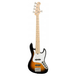 SADOWSKY MetroExpress 21-Fret Vintage J/J Bass, Maple, 5-String (Tobacco Burst)