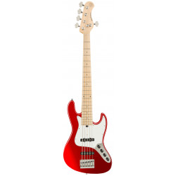 SADOWSKY MetroExpress 21-Fret Vintage J/J Bass, Maple, 5-String (Candy Apple Red Metallic)