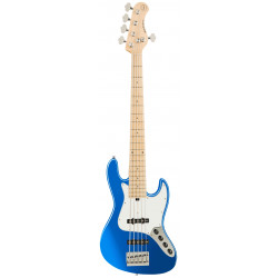 SADOWSKY MetroExpress 21-Fret Vintage J/J Bass, Maple, 5-String (Ocean Blue Metallic High Polish)
