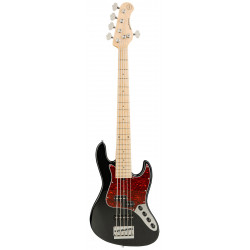 SADOWSKY MetroExpress 21-Fret Hybrid P/J Bass, Maple, 5-String (Solid Black High Polish)