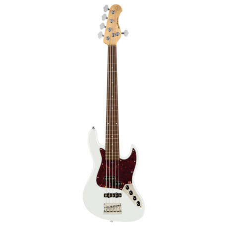 SADOWSKY MetroExpress 21-Fret Hybrid P/J Bass, Morado, 5-String (Olympic White High Polish)