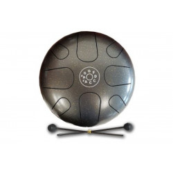 PALM PERCUSSION METAL TONGUE DRUM 8 LEAFS SPOT GREY