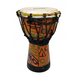 MAXTONE ADJ30B Abstract Cloth Djembe 6""