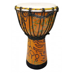 MAXTONE ADJ40B Abstract Cloth Djembe 8""