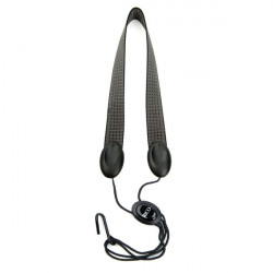RICO SJA05 Rico Fabric Sax Strap (Gray Scales) with Metal Hook