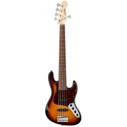 SADOWSKY MetroLine 21-Fret Vintage J/J Bass, Alder, 5-String ('59 Burst Transparent High Polish)