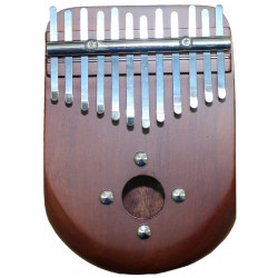 PALM PERCUSSION KALIMBA CURVE SHAPE BROWN
